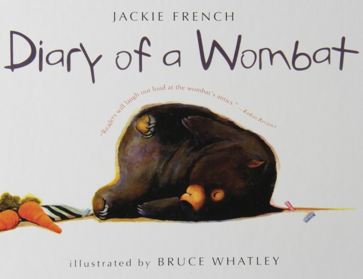 Children's Books - Diary of a Wombat by Bruce Whatley