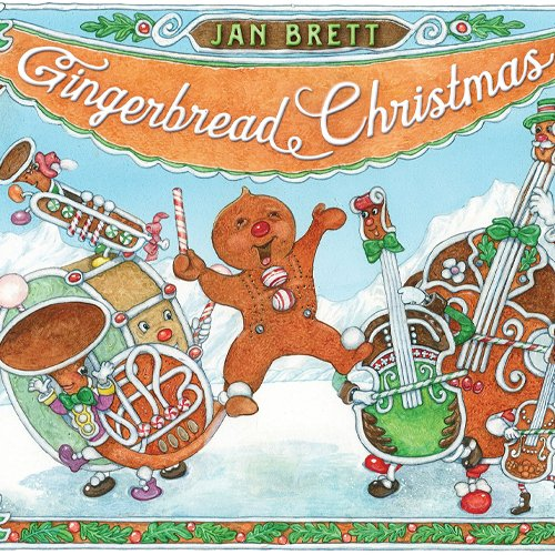 Children's Books - Gingerbread Christmas by Jan Brett