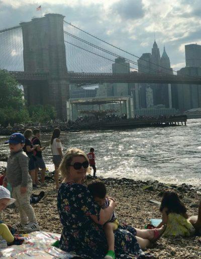 Family Time Under the Manhattan Bridge
